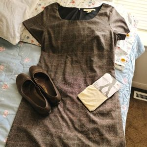 Vintage plaid shift dress